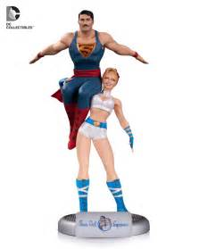 exclusive first look at dc comics bombshells power and superman statue