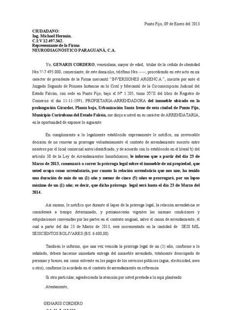 carta de preaviso de no renovacion contrato laboral por el trabajador carta notificando no prorroga contrato arrendamiento