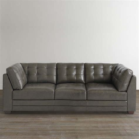 one couch slate gray leather sofa bassett home furnishings