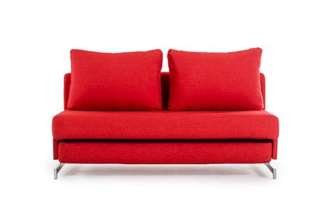 divani sofa bed divani casa sepulveda modern red fabric sofa bed