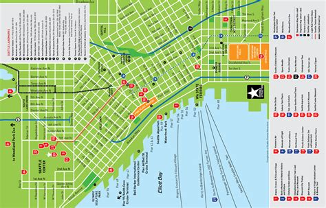 seattle map with hotels seattle attractions map dish creative