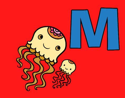 desenho de letra m pintado desenho de m de medusa pintado e colorido por marilurdes o dia 21 de julho do 2015