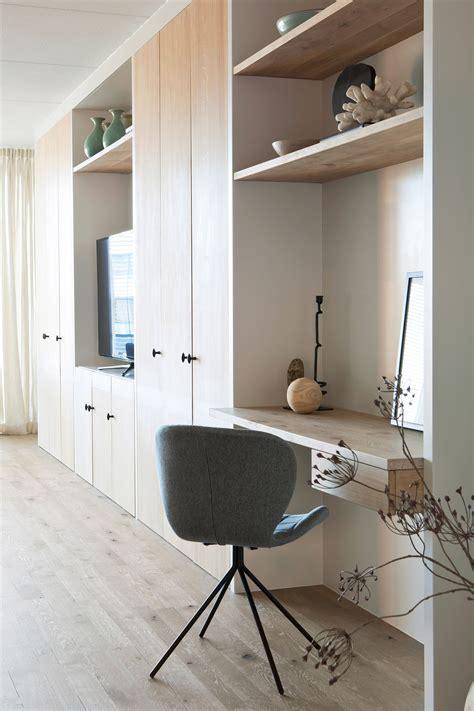 werkplek in kast woonkamer inspiratie werkplek in woonkamer kastenwand