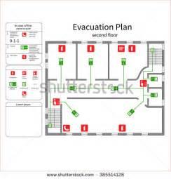 evacuation floor plan evacuation plan stock images royalty free images
