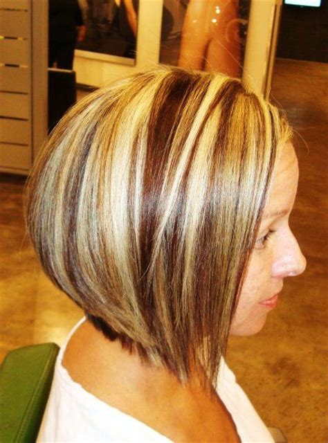 photos of bobbed hair with bold highlights bold highlights and lowlights hair style and color for woman