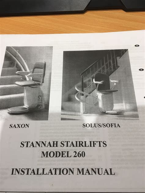 stannah  installation manual  stairlift spares