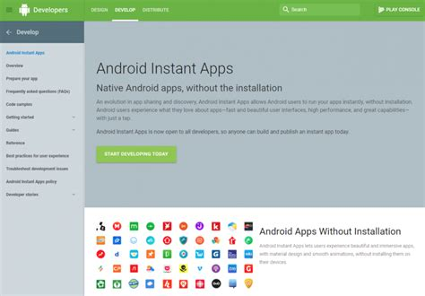 android instant android instant apps what do they for users and developers it world site