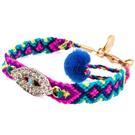 diamante evil eye charm friendship bracelet