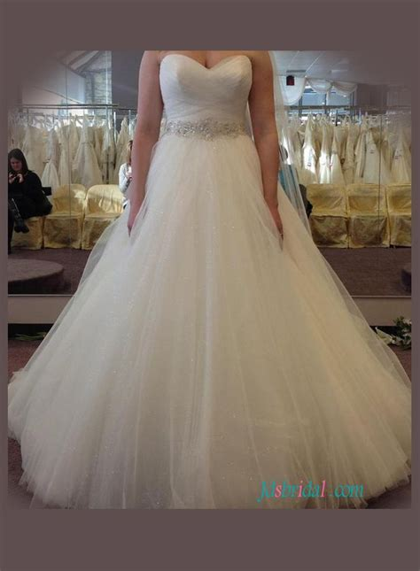 h1064 plus size sparkly tulle gown wedding dress with
