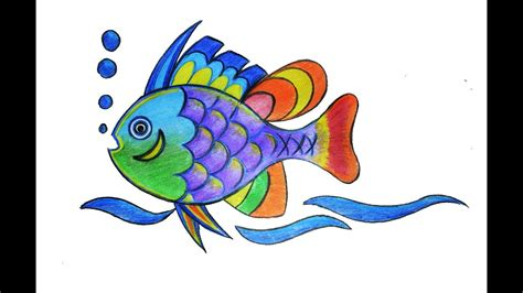 colorful drawings colorful fish drawing how to draw a colorful fish