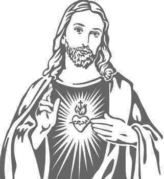 Black And White Drawings Of Jesus by Sacred Of Jesus Clipart 101 Clip