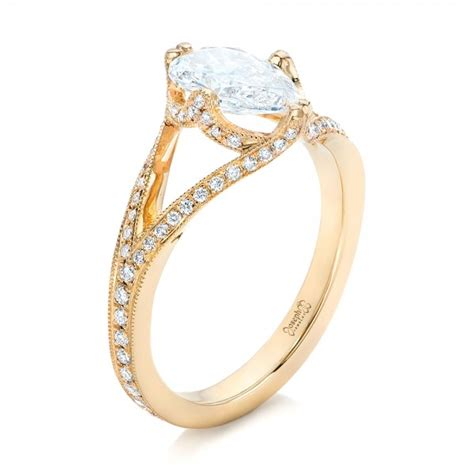 custom yellow gold engagement ring 102412