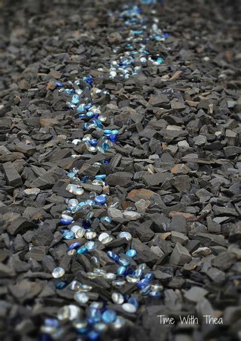 landscaping  shale rock  glass gems landscaping