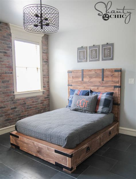 full size bed diy full or queen size storage bed shanty 2 chic