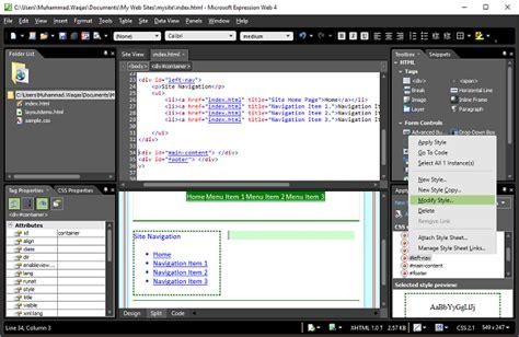 format html expression web vertikale navigation