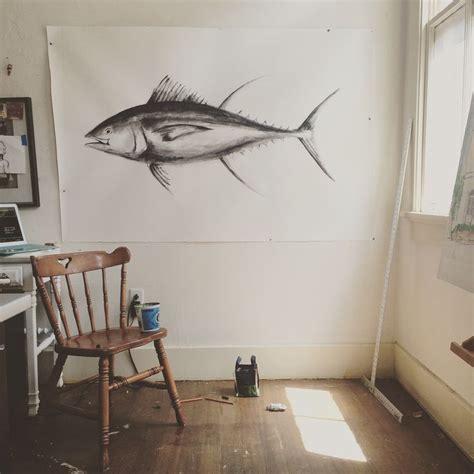 yellowfin boat drawing yellowfin tuna in progress art pinterest tuna and