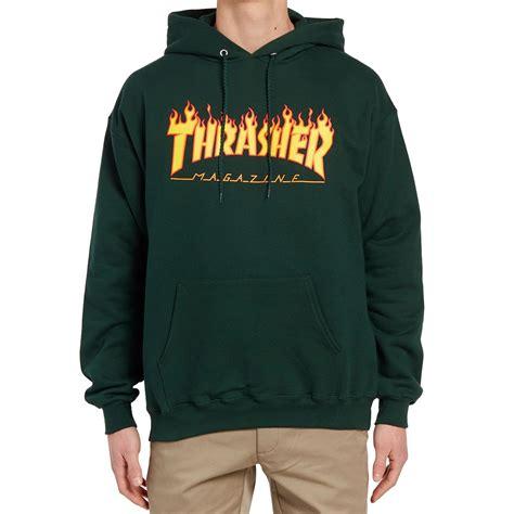 Sweater Hoodie Thrasher Jaspirow Shopping 1 thrasher logo hoodie forest green