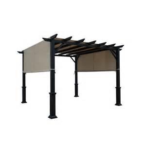Replacement Pergola Shade Canopy by Shop Garden Treasures Matte Black Steel Freestanding