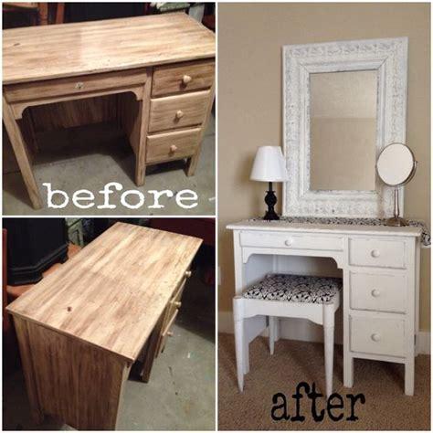 turn desk into vanity old desk turned into super cute vanity simply