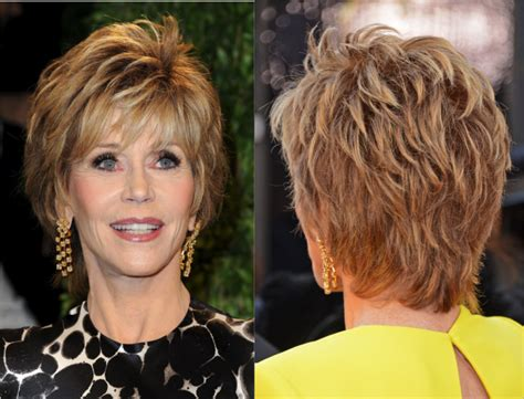 jane fonda shag haircut gorgeous hairstyles for older women from age 60 to 70