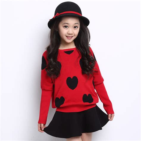 Vogue Sweater Zt7106 1 sweater with dress 2015 children sweaters coat autumn winter fashion pullovers knit