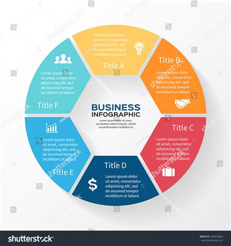 diagram infographic vector circle infographic template for diagram graph