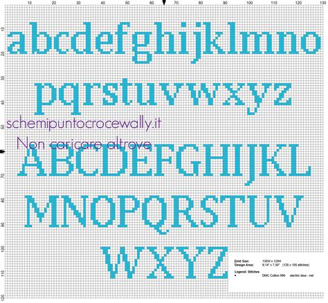 punto e croce lettere alfabeto punto croce gratis minuscolo e maiuscolo per nomi