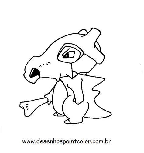 pokemon coloring pages of cubone desenho do pok 201 mon cubone para imprimir e colorir