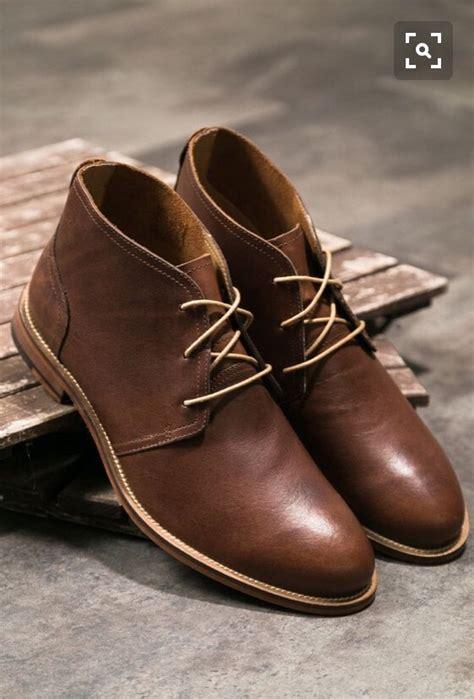 Reyl Chuka Boots Sepatu Pria Brown 남자패션 구두이야기 남자부츠