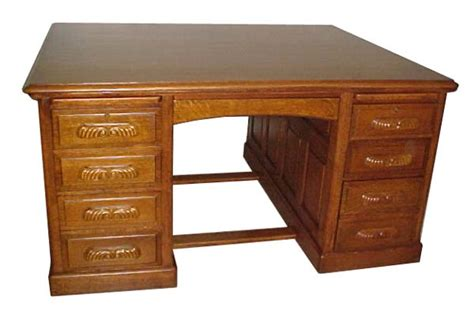 Beautiful 19th C Oak Partners Desk For Sale Antiques Desk For Sale
