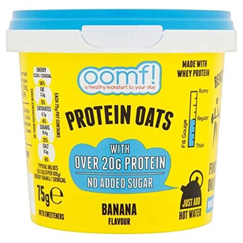 bench pressed oats tesco oomf bench pressed oats high protein banana 75g