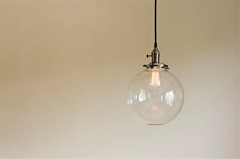clear glass light fixtures glass globe pendant light fixture 10 blown glass