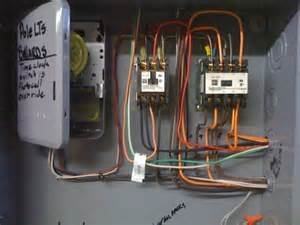 time clock photocell lighting contactor wiring diagram