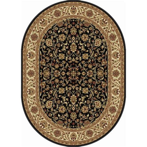7 x 9 oval area rugs tayse rugs sensation black 6 ft 7 in x 9 ft 6 in oval transitional area rug 4813 black 7x10