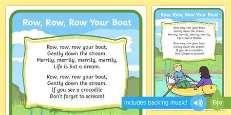 boat song lyrics in english row row your boat song rhymes display nursery rhyme