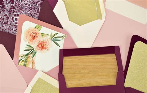 how to diy envelope liners for your wedding invitations