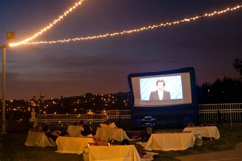 backyard movie party outdoor movie party