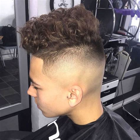 shaved lines on sides hair best curly hairstyles for men 2018 men s haircuts