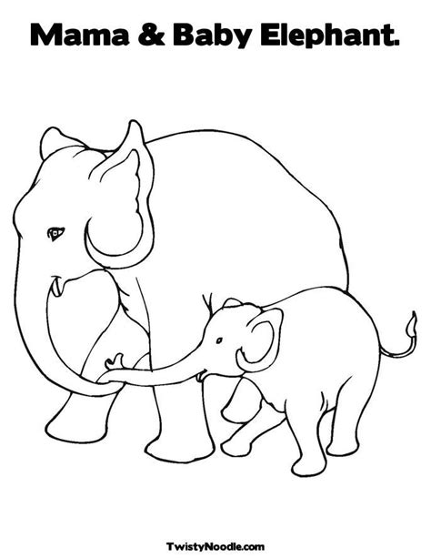 thai elephant coloring page outline of elephant coloring home