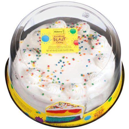 bakery  walmart rainbow blast  vanilla buttercreme icing cake  oz walmartcom