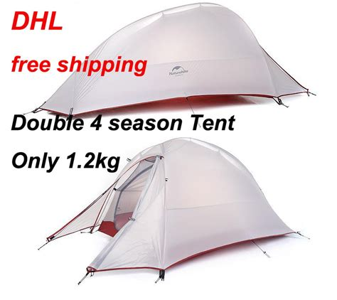 Sale Sport Trendy Tenda Great Outdoor Doble Layer Nsm Kapasitas 6 7 2016 dhl free shipping naturehike 2 person tent ultralight 210t plaid fabric tents layer