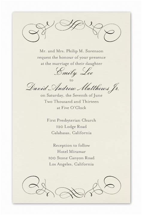 Wedding Invitations Formal by Formal Wedding Invitation Wording Fotolip Rich Image