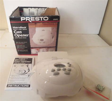 presto under cabinet electric can opener presto can openers for sale classifieds