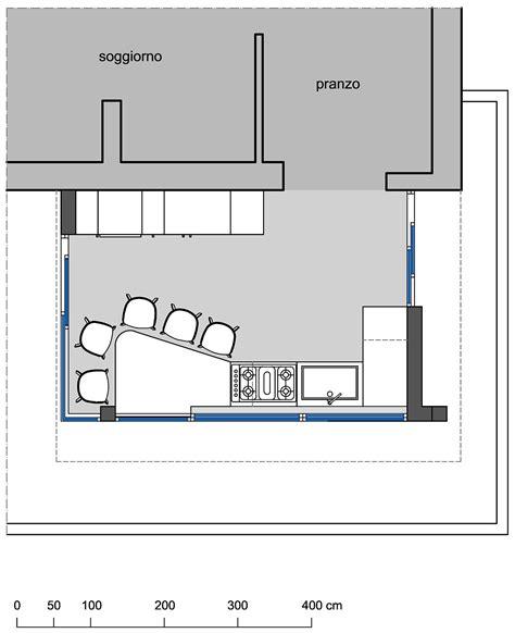 ricircolo casa spostare la cucina sul terrazzo sfruttando il piano casa