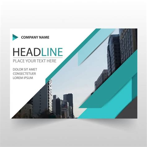 Abstract Green Horizontal Business Flyer Template Vector Free Download Horizontal Flyer Template
