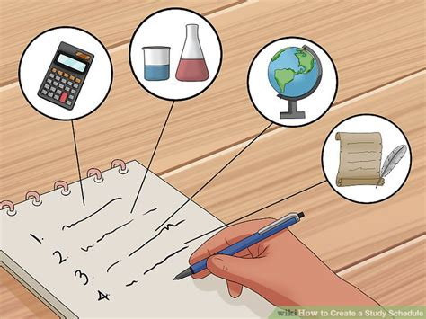 one schedule the easiest way to create a study schedule wikihow