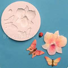 orchid rubber st fpc sugarcraft orchid insects silicone mould