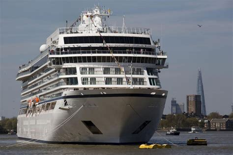 thames river cruise viking viking sea luxury cruise ship sails up river thames for