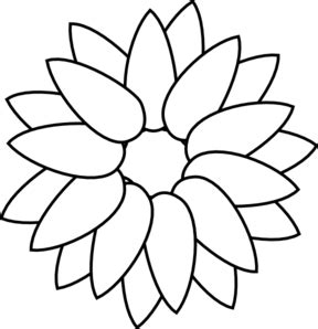 sunflower outline clip art at clker com vector clip art