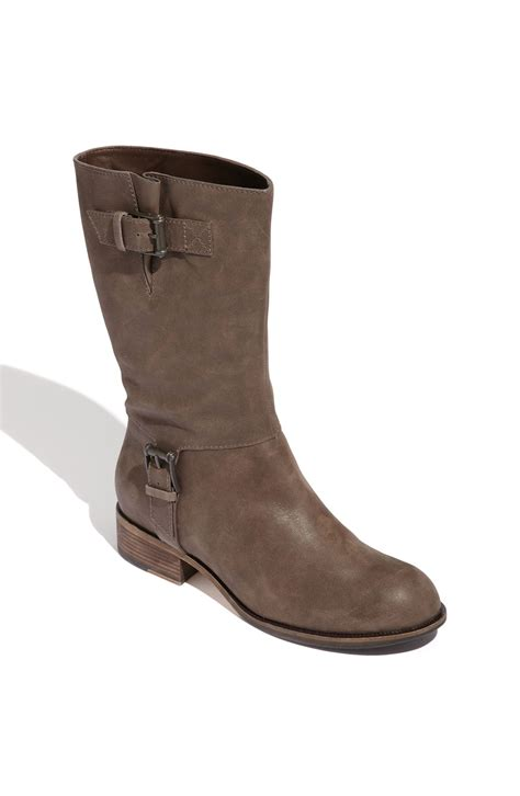 mid calf boots cole haan air leora mid calf leather boot in brown